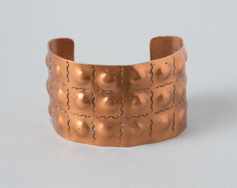 Vintage Copper Cuff with Dimple design