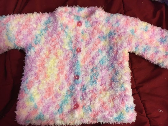 947a73aa5e09 Pink Confetti Gender Neutral Baby Sweater gender reveal