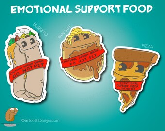 Stickers   Emotional Support Food