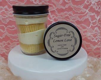 Lemon Love, Sugar-Free Cupcake in a Jar