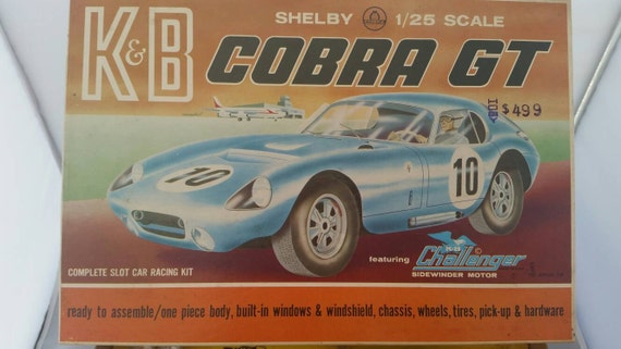 Shelby 1/25 scale K&B Cobra GT slot car kit 1965 issue