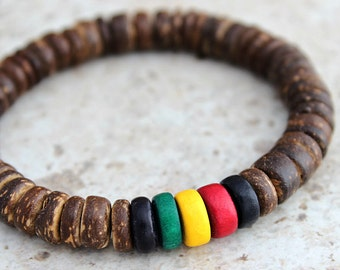 Mens Bracelet Rasta Bracelet Rasta Gift Jamaican Gifts Brother Gift Boyfriend Gift Jamaican Jewelry
