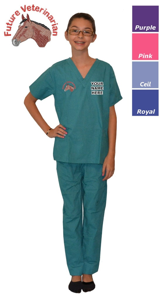 Kids Scrubs with Science Rocks Embroidery Design