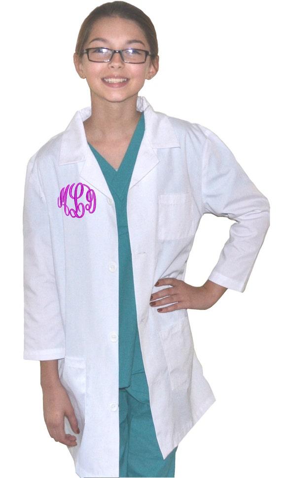 Mantel Lab Für Ärzte Und Kinder Krankenschwestern Kleine Monogrammierte rBeodCx