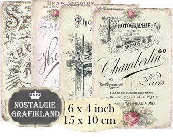 Lace printable Background Cards Scrapbooking Ephemera Wedding Junk Journals Download digital collage sheet P076
