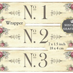 wrapper shabby chic french numbers numero number organizing instant digital collage sheet e144