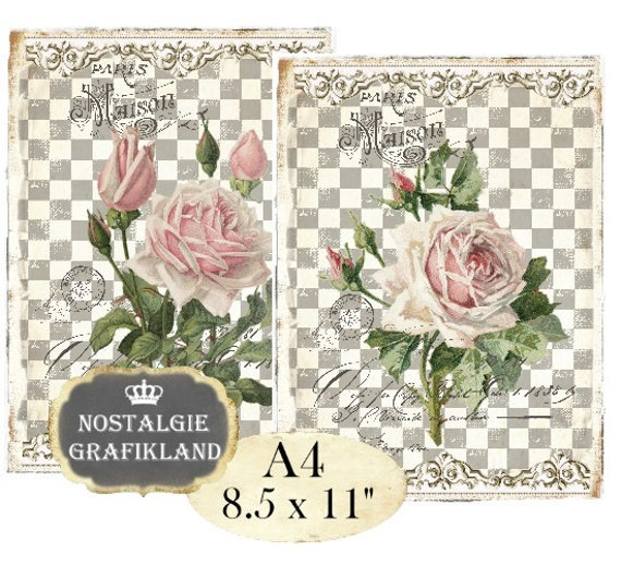 Shabby Chic Roses Victorian Rose Flowers Fleurs Paris Maison Etsy