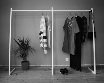 Clothing Rack ZRAIL EXTENDED // Clothes rail // Wardrobe // Shop display // Garment rack // Durable // Quick Easy Assembly // Industrial