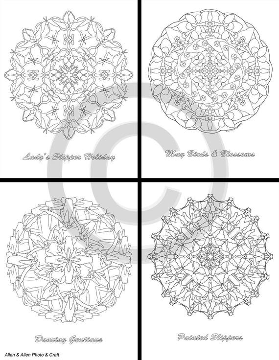 Mandalas para colorear páginas de Maine Wildflower 10 | Etsy