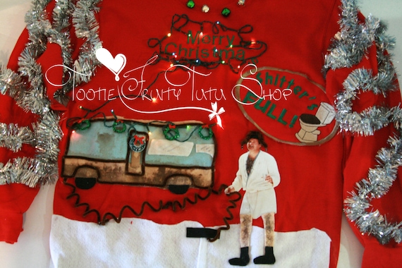 National Lampoons Christmas Vacation Adult Knit Sweater Cousin