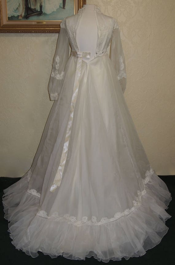 Bridal Originals 60's ORGANZA EMPIRE WAIST Weddin… - image 5