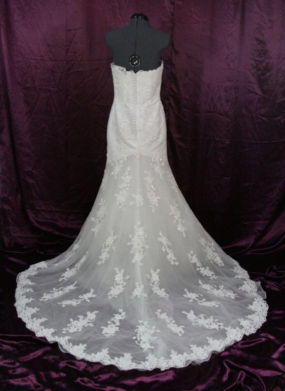 Alfred Angelo Lace Wedding Dress Size 6 Etsy