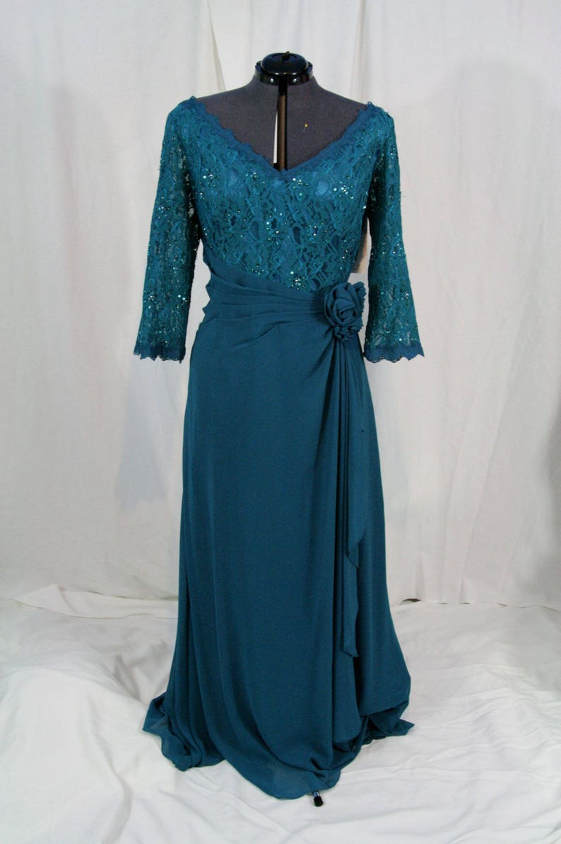 d237a811bea Mother of the bride Plus Size dress size 4X color Jade Teal