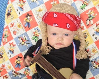 c7c5fb7f2c92d Willie Nelson Wig Hat Costume Size Newborn-Adult Country Music Dirty Blonde  Braids You Were Always on My Mind Rock and Roll