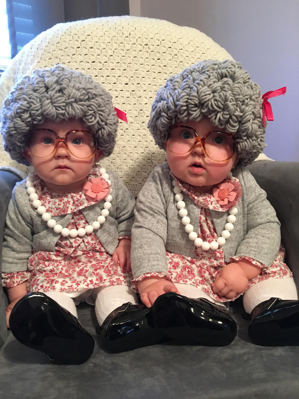Old Lady Wig 100th Day Of School Granny Wig Crochet Pattern Etsy