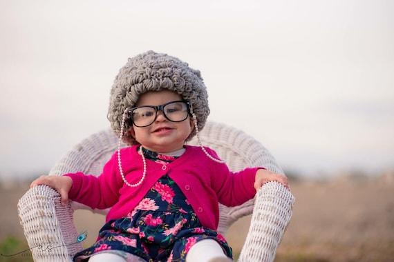 Easy Crochet Pattern Old Lady Wig 100th Day of School Granny  e8d2e0985b
