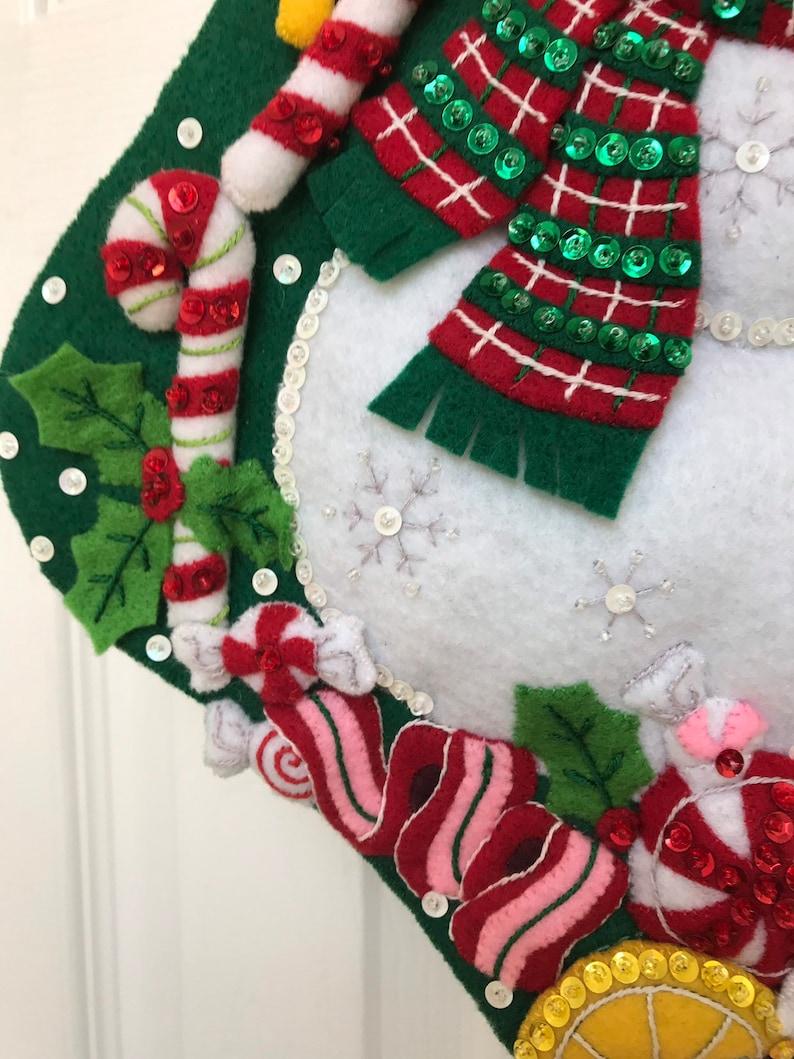 Finished 18 Bucilla Christmas Stocking