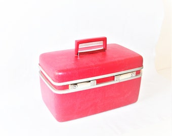 Pink Samsonite Train Case Royal Traveler Red Make-Up Bag Toiletry Vanity Overnight Luggage Carry On Storage Box Cosmetic Black Own Business