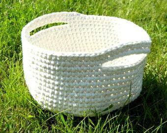 Gardening gift basket Large Crochet storage basket bin Birthday gift from daughter Laundry Basket Storage Bin Womens gift for grandmother
