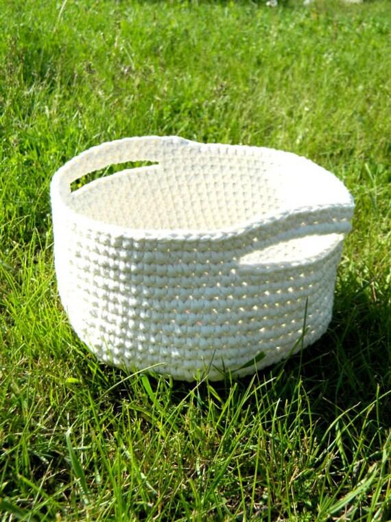 Large Storage Basket With Bin Crochet Birthday