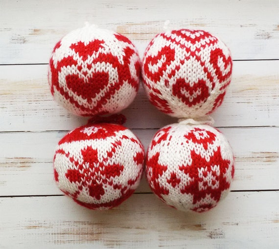 Christmas gifts Knit Balls home decor toys first christmas | Etsy