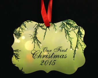 Custom Benelux Photo Christmas Ornament: 2-Sided