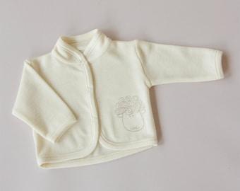 Merino wool baby jacket/newborn baby woollen jacket
