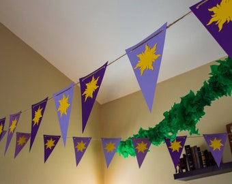 Tangled Flag Banner - Custom Cut - Customizable Sizes and Colors