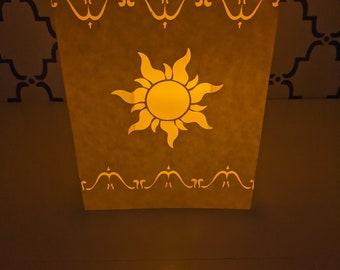 Tangled Lantern | Rapunzel Lantern, LARGE Square - Free Shipping & Discount for multiples