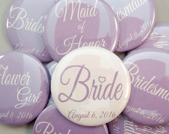 "1.25"" Lilac Lavender Bachelorette Party Buttons"