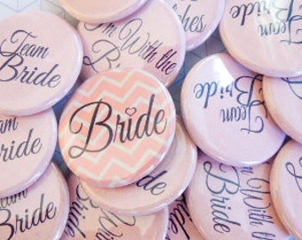 "1.25"" Light Pink Bachelorette Party Buttons"