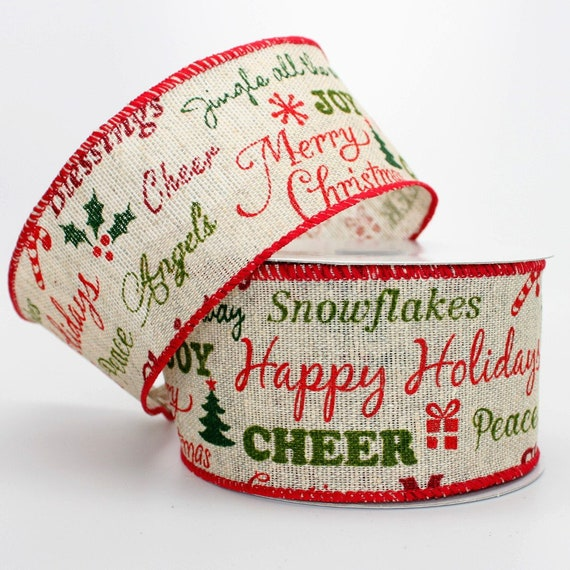 il_570xn - Christmas Burlap Ribbon
