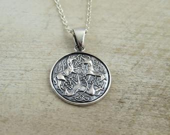 Celtic horse pendant etsy sterling silver epona horses necklace epona horses celtic epona horses personalized celtic necklace horse necklace horse pendant aloadofball Images