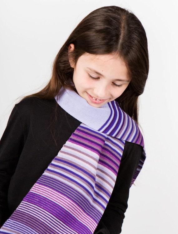 Foulard violet foulard rayé écharpe filles cou usure   Etsy 7ef894063b0