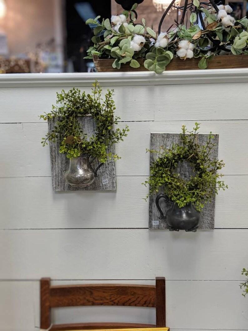 Vintage Silver Creamer Wall Vase   Etsy