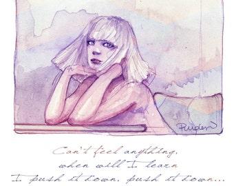 Chandelier set of 4 art fashion prints, Sia art, Vanity Art, Gift for her, Ballet dancer.