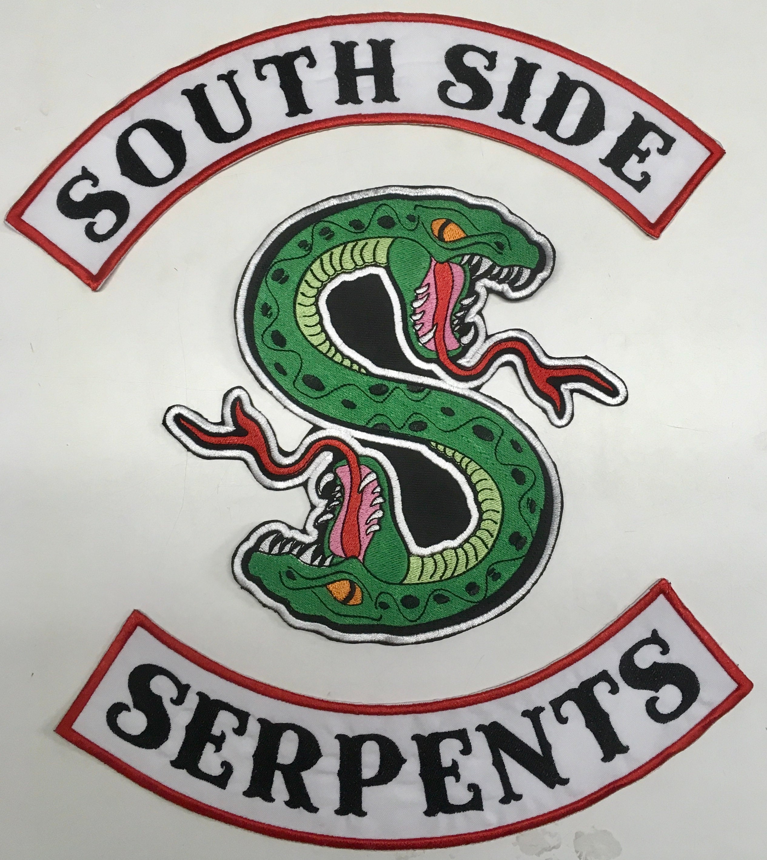 ce4c7d30e ... South Side Serpent Riverdale Tumblr: XL Southside Serpent Patch Set  Costume Cosplay Riverdale