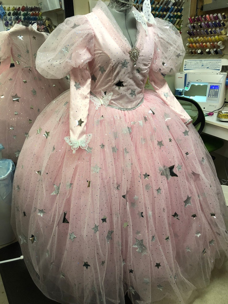 Glinda the good witch Wizard of Oz Cosplay Costume gown image 0