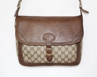 58edd661d97ab9 Authentic Vintage Gucci Crossbody Messenger Bag in Brown