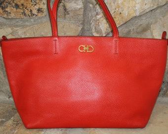 baddd41949 Authentic Salvatore Ferragamo Bice leather Tote bag