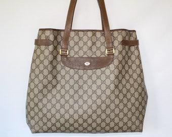 79b4f555b1a Vintage Authentic Gucci Tote Bag Supreme Monogram