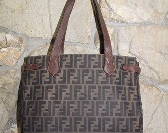 f6278fd693 Vintage Authentic Fendi Zucca Tote Bag