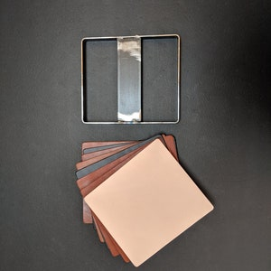SQUARE Clicker Die for Leather Coaster Pocket Bag Made in USA