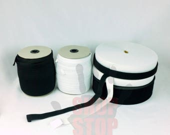1 Spool Elastic 1 Inch Wide White Non Roll Waistband 36 Yards Waist