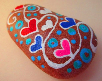 HEARTS Painted rock