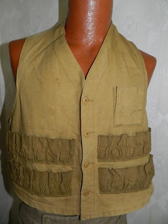 Vintage 40's-50's Hunter's Shooting Vest by Hettri