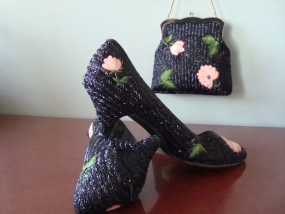 1950's vintage purse and matching shoes - image 3