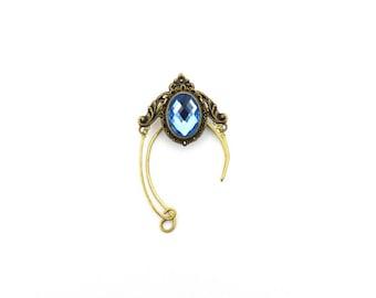 EAR CUFFS - Elf ear cuff - Elf ears - Elven ear cuff - Elven ears - Fairy Ears - Dark BLUE Ear cuffs . Elvish