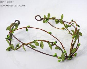 Elf Crown. Green branch Forest tiara. Elven crown handmade by Muse Suite.