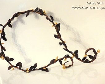 Elven necklace, Fairy tork necklace, Fantasy choker with branch, Forest Collection.